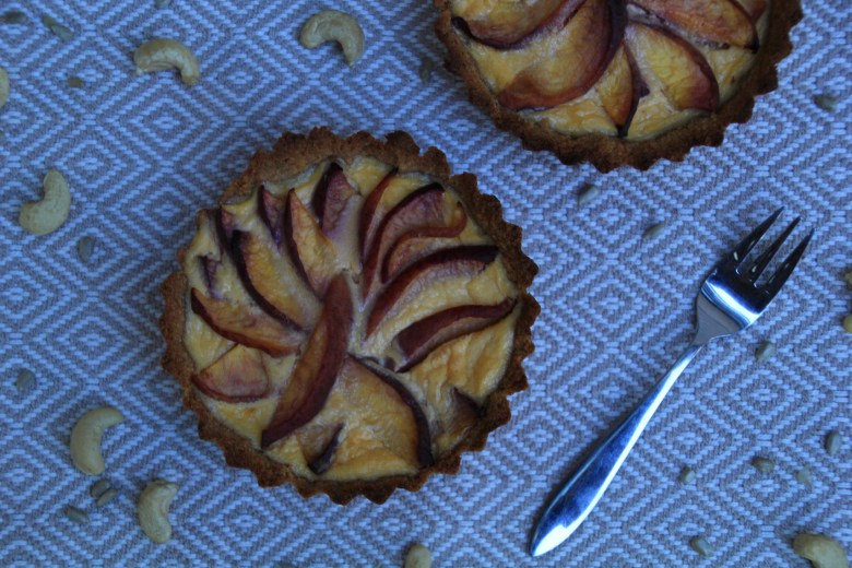 Sugarfree Peach Tartlets With Coconut Cream Custard