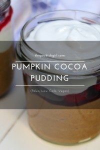 Pumpkin Cocoa Pudding (Paleo, Low Carb, Vegan)