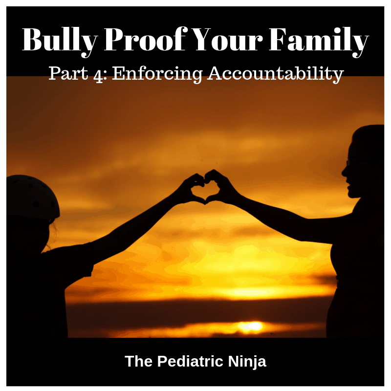 Bully Proof Your Family.  Part 4: Enforce Accountability