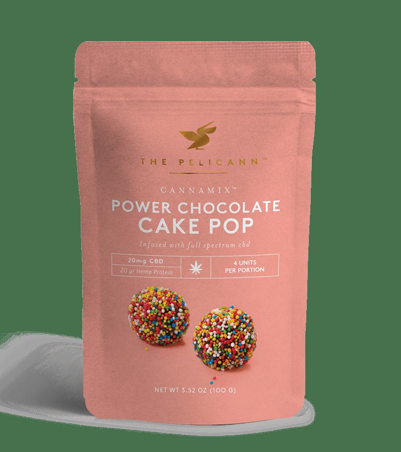 power chocolate cake pop