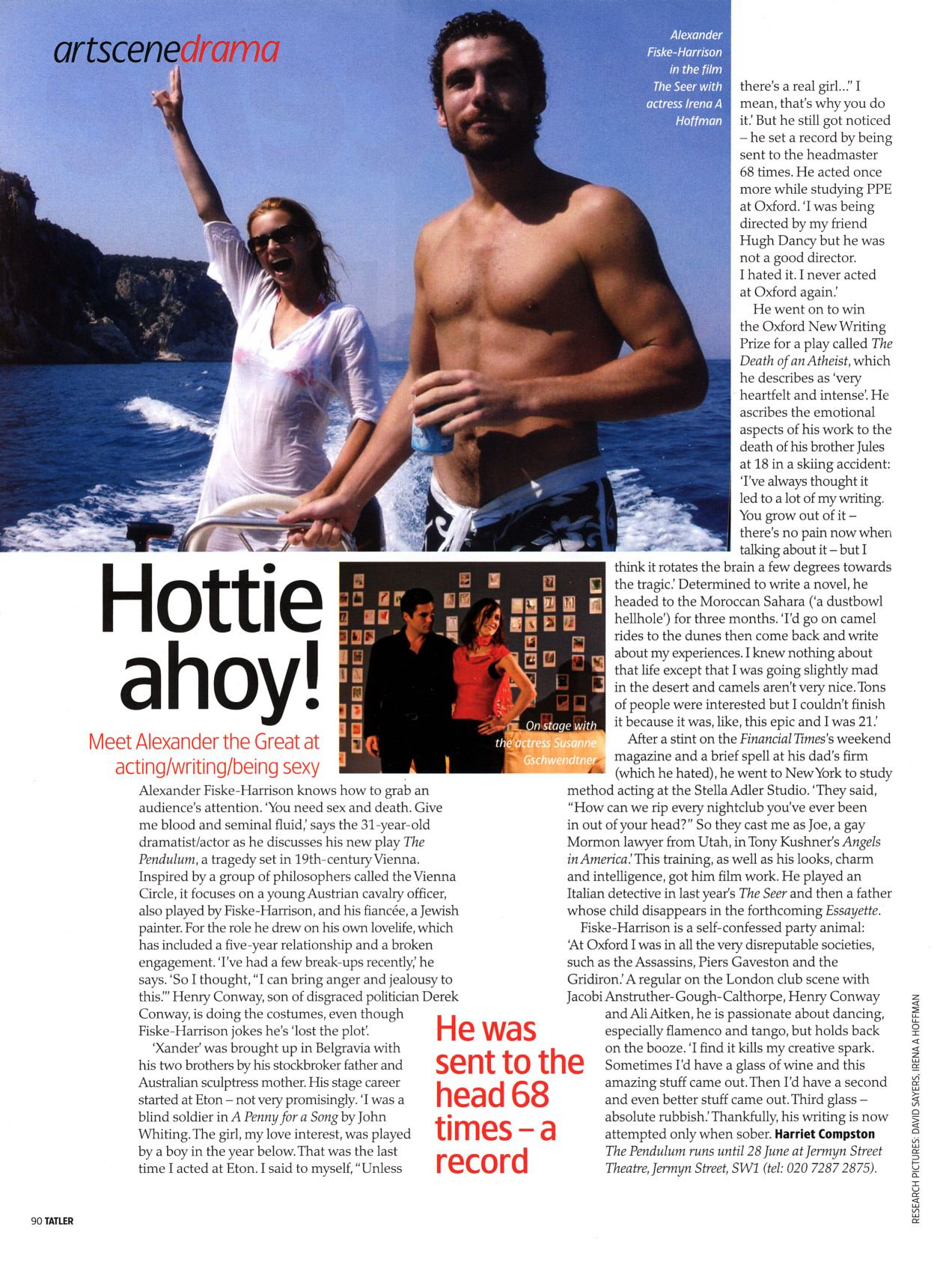 Tatler feature article on AF-H, July 2008