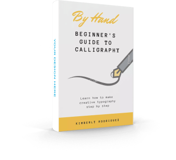 Calligraphy guide ebook mockup pennymatters