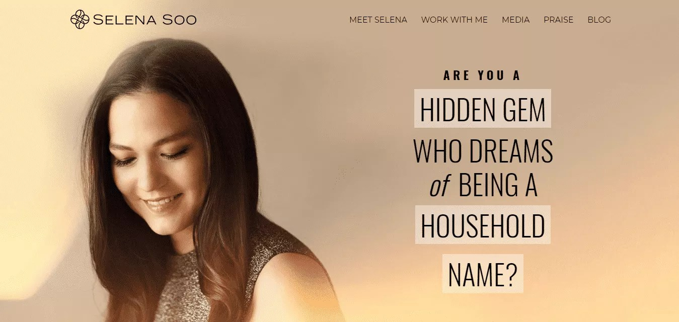 Selena Soo Publicity Marketing Strategist conversion rate optimization with strong call to action