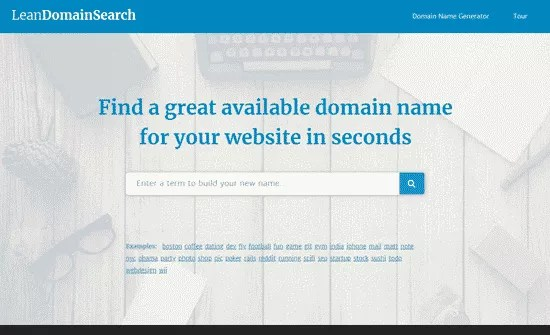 Lean Domain Search Blog Name Generator
