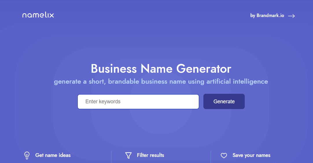 Namelix Best Business Name Generators Good Blog Name Ideas