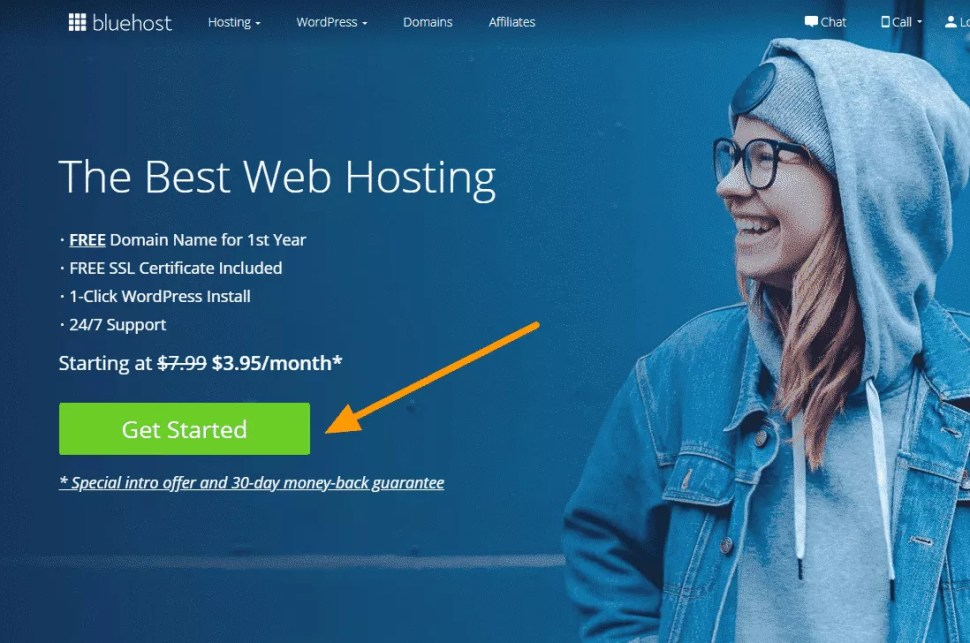 how to start a money making blog Bluehost Get started