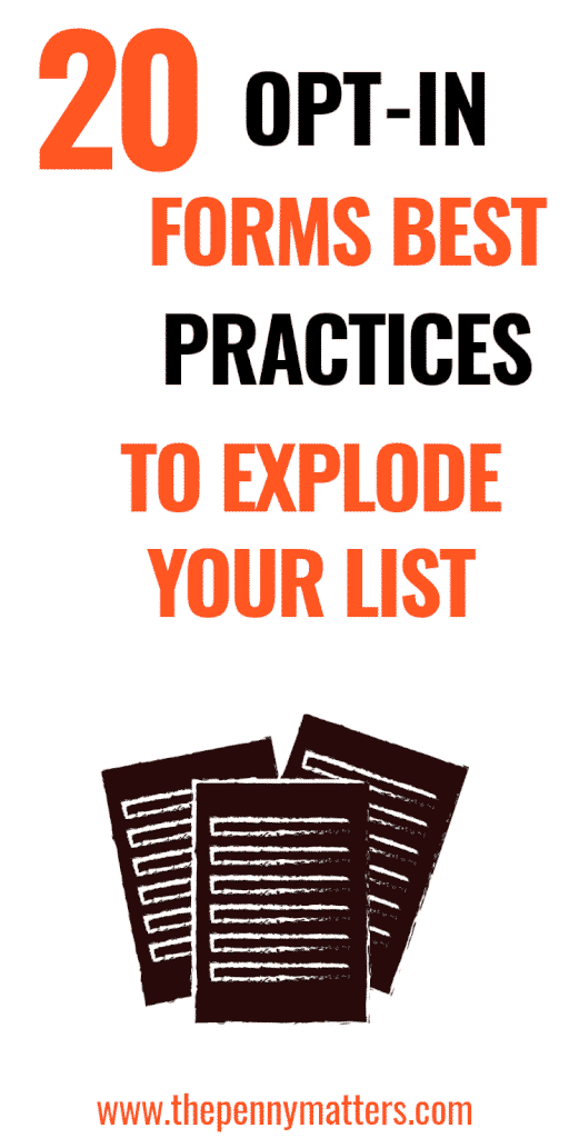 20 Email Opt-in Forms Best Practices to Sky-rocket Your List Building 2