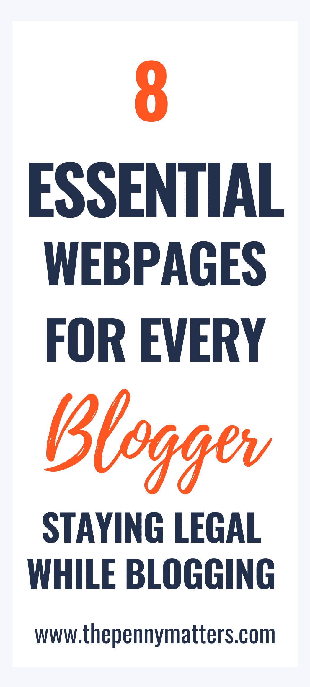 8 Essential Website Pages That Every Blogger Should Set Up