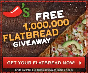 free chili's flatbread coupon