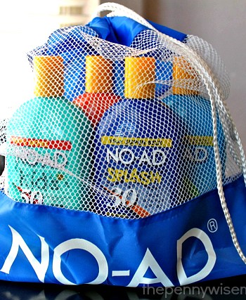 no-ad suncare beach bag giveaway