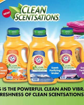 Arm & Hammer Clean Scentsations Detergent + Contest