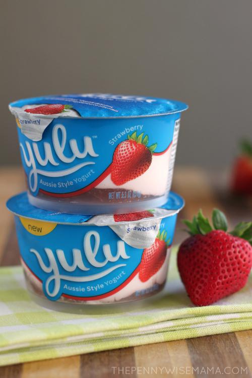 {Skinny} Frosted Strawberry Lemonade with Yulu Yogurt