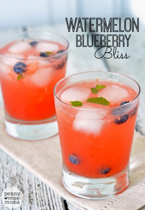 Watermelon Blueberry Bliss - A Refreshing Drink for Summer!