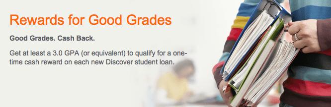 Discover Card Reward for Good Grades Program