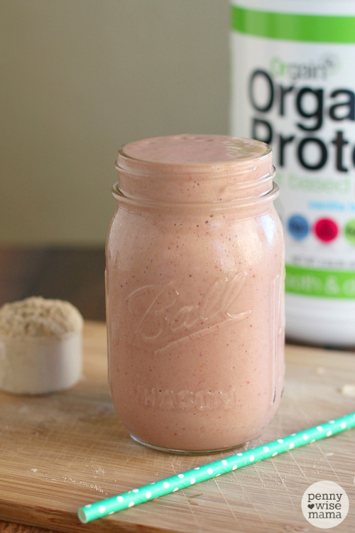 Tropical Breakfast Smoothie with Orgain Organic Protein