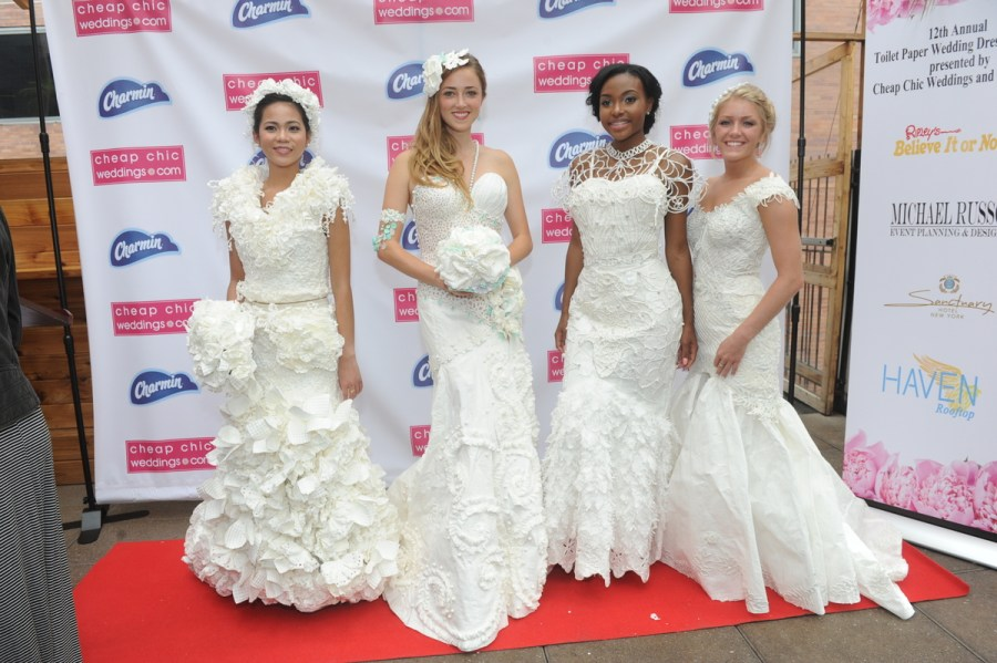 12th Annual Toilet Paper Wedding Dress Contest Winners   The     12th Annual Charmin To12th Annual Charmin Toilet Paper Wedding Dress  Contest Top 4