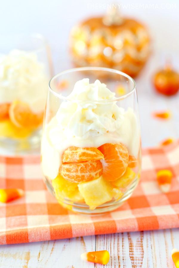 Healthy 'Candy Corn' Fruit Parfaits