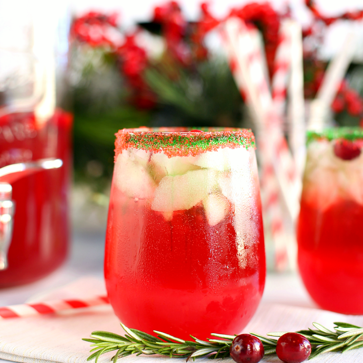 Sparkling Cranberry Lime Holiday Punch