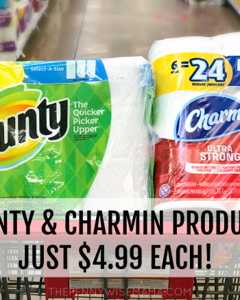 Charmin Mega Roll & Bounty Big Roll JUST $4.99 at Kroger