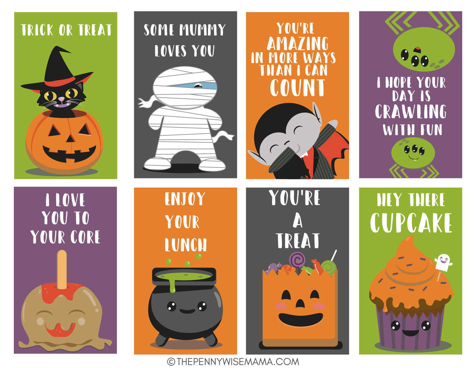 photograph regarding Printable Halloween Pic identify Lovely Halloween Lunch Box Notes Cost-free Printable - The