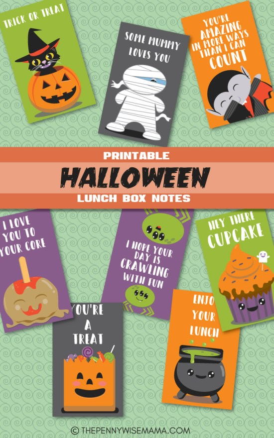 Cute Halloween Lunch Box Notes - FREE Printable - Halloween Printables