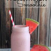 Coconut Watermelon Smoothie with Silk Almond Milk