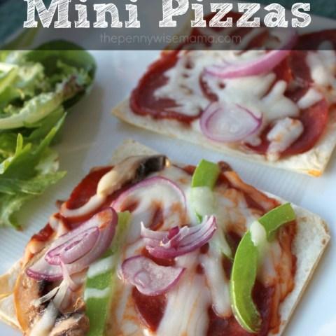 Homemade Mini Tortilla Pizzas