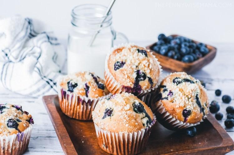 Jumbo Lemon Blueberry Muffins Recipe
