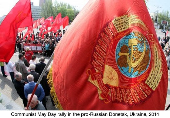 Donetsk communist rally