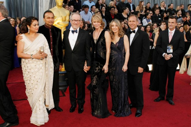 Steven Spielberg and Anil Ambani walk the Oscar red carpet