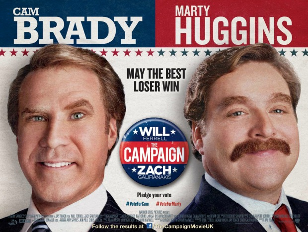 Win merchandise with The Campaign starring Will Ferrell and Zach Galifianakis!