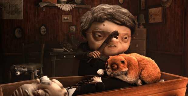 Watch The Dark Comedic Animated short Le Taxidermiste