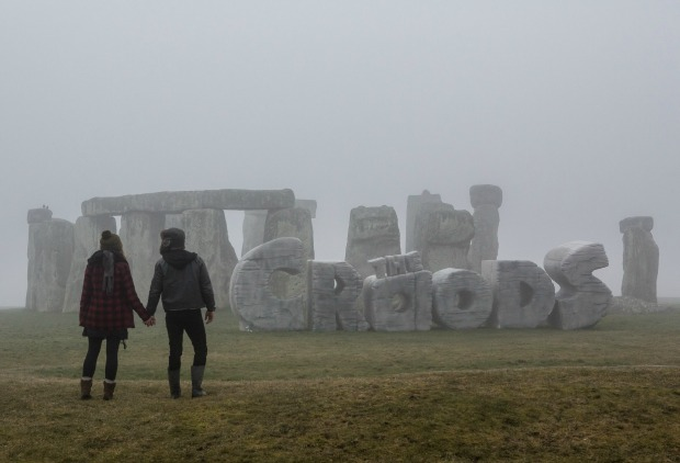 The Croods Take Over Stonehenge Watch 'Daddy Crood' Video