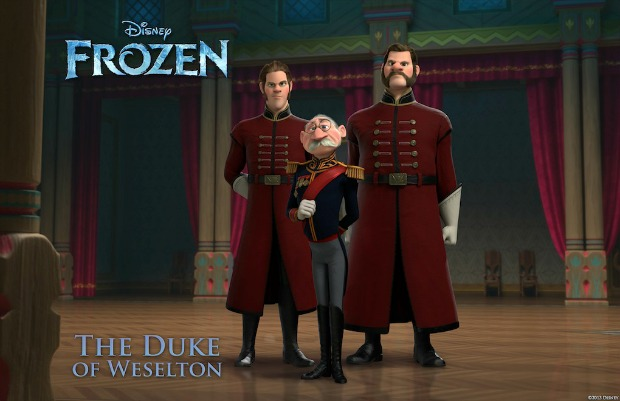"""FROZEN"" (Pictured) THE DUKE OF WESELTON. ©2013 Disney. All Rights Reserved."