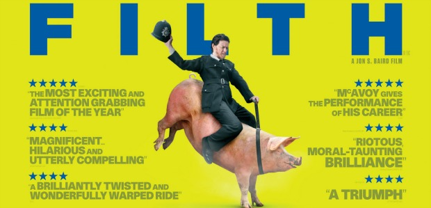 James McAvoy Goes Pig Riding In New Irvine Welsh Filth UK Poster