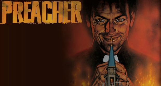 The sermon begins with first Preacher trailer
