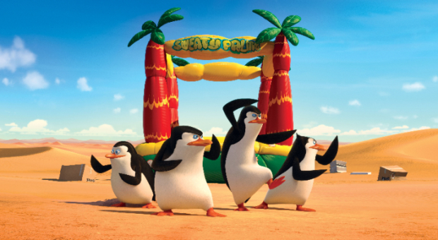 Watch a Flipping Useless Penguin Dance in new clip for Penguins of Madagascar