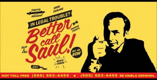 Better Call Saul Advert