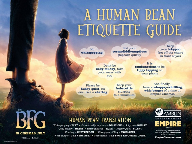 Empire Cinemas BFG Etiqeutte Guide