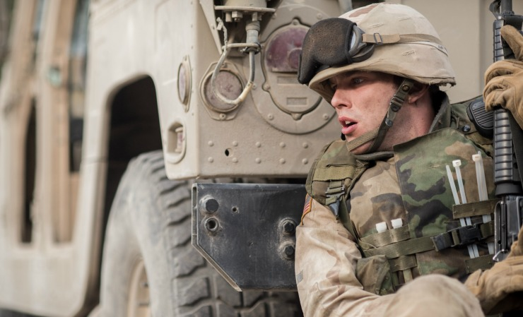 First Look Images At  Netflix New War Drama Sand Castle