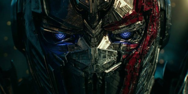 Prime Looms Over Bumblebee In New Transformers: The Last Knight Poster