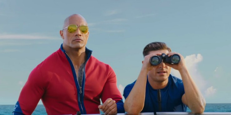 "Dwayne Johnson's Balls Are ""Bullies""  In New Red Band Baywatch UK Trailer"