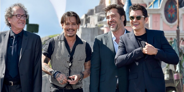 Johnny Depp And Cast Of Pirates Of The Caribbean: Salazar's Revenge Surprise Fans At Disneyland Paris Fan Event