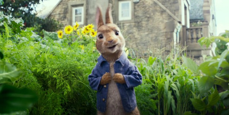 In First Peter Rabbit Trailer James Corden Is Born To Be Wild