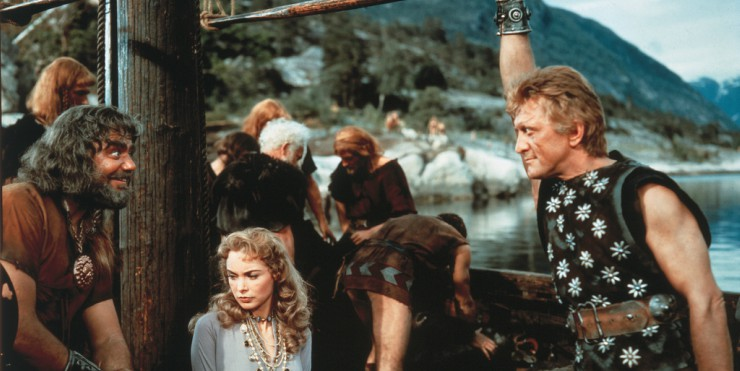 Win Classic Adventure The Vikings Starring Kirk Douglas On Blu-ray
