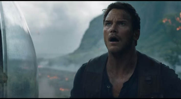 In Jurassic World: Fallen Kingdom Trailer Two Chris Pratt In The Mouth Of The Beast