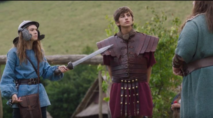 In Horrible Histories: The Movie -Rotten Romans Clip Keeping A Prisoner Is Hard Work