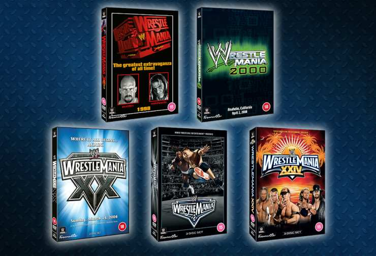 Win Five 'Best' WWE Wrestlemania's  On DVD