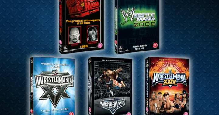 Win Five 'Best' WWE Wrestlemania's  On DVD