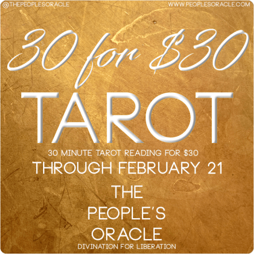 Book a 30 minute Tarot Reading with @PeoplesOracle